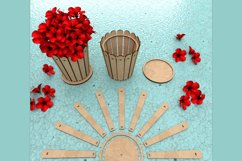 Flower Pot - laser cutting file Product Image 1