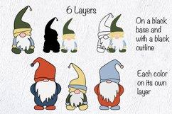 Gnome SVG. Layered SVG. Layered Papercut Product Image 3