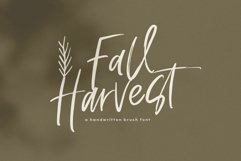 Fall Harvest - A Handwritten Script Font with extras! Product Image 1
