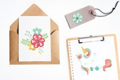 Floral unicorn graphics and illustrations Product Image 4