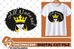 5x Black Woman Bundle SVG, Afro Lady svg, file,Lady in Crown Product Image 3