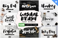 Casual Brush Font Bundles by YandiDesigns Product Image 1