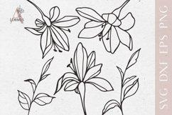 Lily svg bundle, Spring svg files for cricut, Plants svg Product Image 1