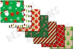 Christmas pattern digital paper set, Candy cane, Santa claus Product Image 3
