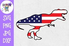 American Flag Dinosaur TREX- Dinosaur SVG-Fourth of July SVG Product Image 1