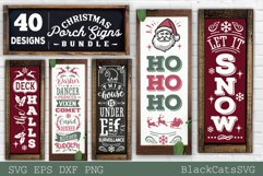 Christmas porch signs bundle SVG Vertical signs SVG Bundle Product Image 6