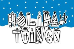 20 Christmas Fonts - A Christmas Font Bundle! Product Image 4