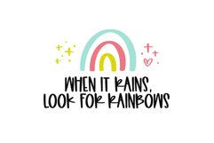 Rainbow Dreams - A Fun Handwritten Font with Extras Product Image 3