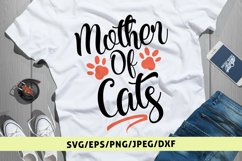 Mother Of Cats - Mother SVG EPS DXF PNG Cutting Files Product Image 1