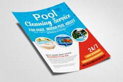 Pool Cleaning Service Flyer Template Product Image 3