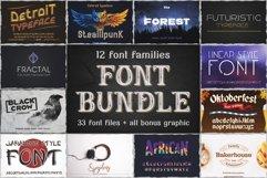 12 Font Families Bundle Product Image 1
