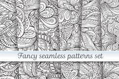 Fancy black and white seamless patterns set Product Image 1