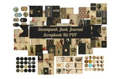 Steampunk Junk Journal Scrapbook Kit Product Image 1