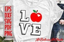 Teacher Svg Teach Love Svg School Svg Love School SVG Love S Product Image 5