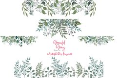 Watercolor Greenery 54 Piece Bundle in Silver Sage and Gray Product Image 7