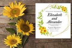 Sunflower Wedding Invitation Product Image 3
