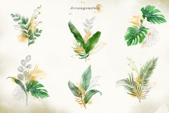 Watercolor & Gold Tropical Leaves Collection Product Image 6