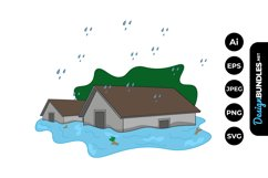 Flood Clipart Product Image 1