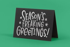 Rude Freaking Holiday Greetings - Christmas and Winter SVGs Product Image 2