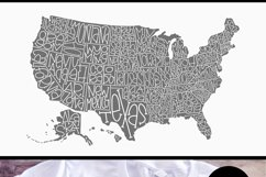 Hand Lettered United States of America USA Map Product Image 2