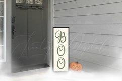 Halloween Vertical Sign Mockup Set, Tall Porch Sign Mock-up Product Image 2