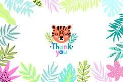 Nursery Art Jungle Animals Illustrations Patters & More Bund Product Image 9