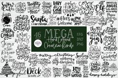 MEGA HAND LETTERED CHRISTMAS SVG BUNDLE - Also in DXF & PNG Product Image 1