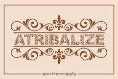 Atribalize Typeface With Illustrator And Border Product Image 1