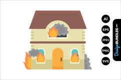 House on Fire Clipart Product Image 1