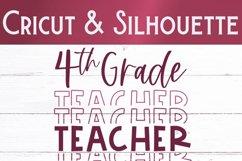 Fourth Grade Teacher SVG | Teacher Shirt SVG Product Image 2