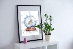 Christmas SnowGlobe Mockup Watercolor clipart Product Image 5