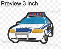 Applique Police Car - Embroidery Files - 1474e Product Image 2
