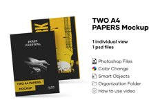 Two A4 Papers Mockup Product Image 1