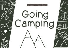 Going Camping - A Handwritten Font Product Image 1