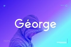 George Sans - 8 Fonts Geometric Typeface Product Image 1