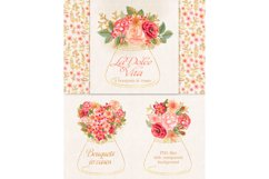 Watercolor glitter floral collection Product Image 6