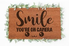 Smile you're on camera Doormat svg | Welcome sign svg |Funny Product Image 1