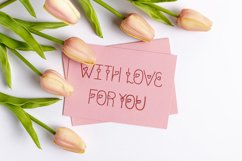 Charmel Love font. Valentine's Day Font. Lovely Heart font. Product Image 4