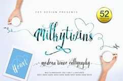 Milkytwins Modern Wave Calligraphy Product Image 1