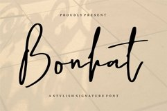 Web Font Bonhat - A Stylish Signature Font Product Image 1