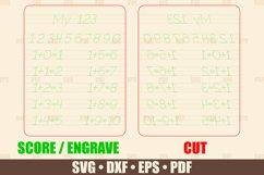 Tracing Board SVG Glowforge file, Numbers Tracing Glowforge Product Image 2