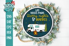 Life Needs More Starry Nights and Bonfires RV SVG Product Image 1