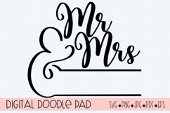 Mr. & Mrs. Monogram SVG |Silhouette and Cricut Cut Files Product Image 2