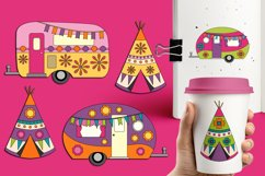 Happy camper Teepee Tent - Camping Caravan Graphics Product Image 3
