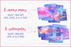 Watercolor Backgrounds, Sublimation Watercolor Texture PNG Product Image 2