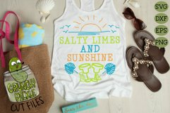 Salty Limes and Sunshine Summer Beach SVG Product Image 4