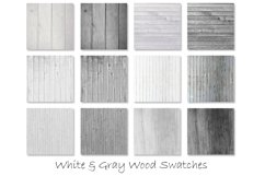 White & Gray Wood Textures - Wood Digital Paper Product Image 2