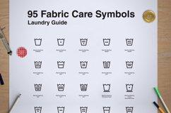 95 Fabric Wash Care Icon/Symbol Product Image 2