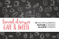 Hand drawn CAFE & SWEETS Product Image 1