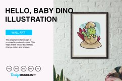 Hello, Baby Dino Vector Illustration Product Image 5